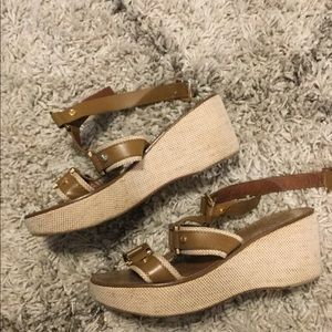 Tory Burch leather wedges~ Size 8